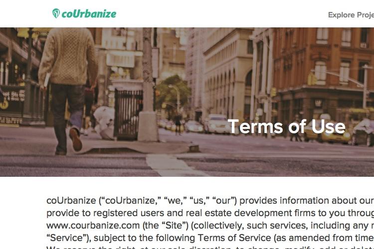 Screenshot of coUrbanize and