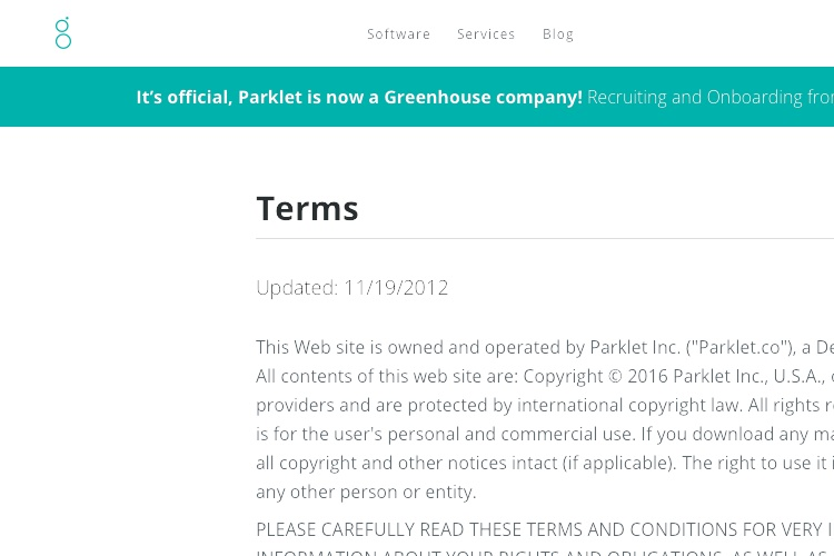 Screenshot of Parklet